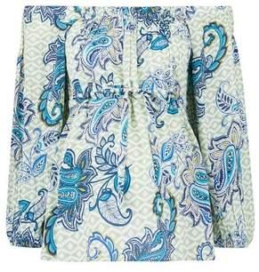 Dorothy Perkins Womens **Maternity Blue Paisley Print Crinkle Top, Blue