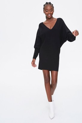 Forever 21 Batwing-Sleeve Sweater Dress