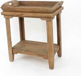 Charlena Wooden Tray Table Rosalind Wheeler