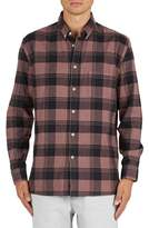 Barney Cools Men's Cabin Plaid Flannel Sport Shirt