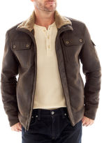JCPenney R And O R&O Faux-Shearling Aviator Jacket