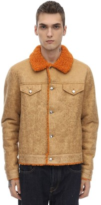 Stand DISTRESSED FAUX SHEARLING JACKET