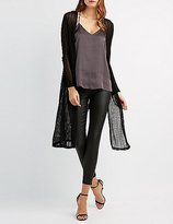 Charlotte Russe Open Knit Duster Cardigan
