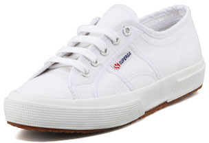 Superga Cotu Flat Canvas Sneaker, White