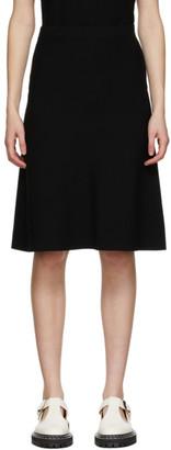 S Max Mara Black Gesto A-Line Skirt