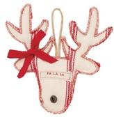 Mud Pie Grain Sack Reindeer Ornament