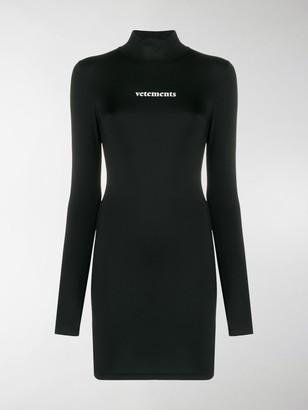 Vetements Logo Jersey Mini Dress