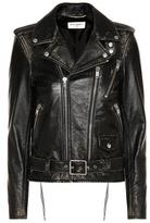 Saint Laurent Classic L17 distressed leather jacket