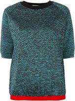 Marni melange short sleeved jumper - women - Polyamide/Polyester/Viscose/Virgin Wool - 38
