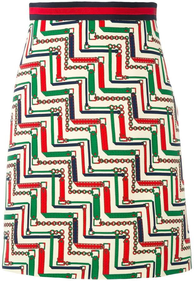 Gucci patterned pencil skirt