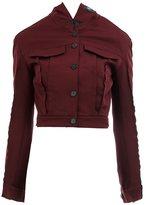 Yang Li exposed seam jacket