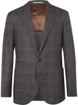 Brunello Cucinelli - Grey Unstructured Prince of Wales Checked Virgin Wool and Silk-Blend Suit Jacket