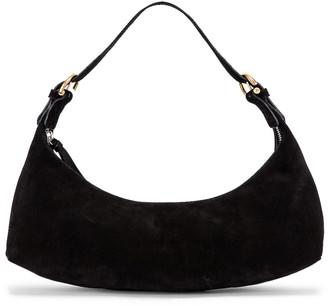 BY FAR Mara Suede Leather Bag in Black | FWRD