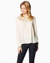 Charming charlie Exquisite Lace Blouse