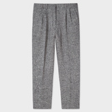 Paul Smith Women's Regular-Fit Grey Salt-And-Pepper Tweed Trousers