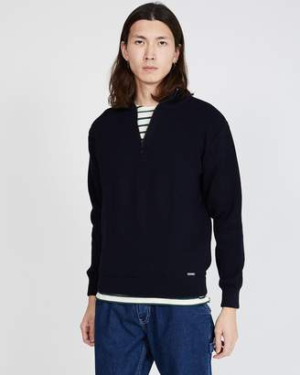 Armor Lux Chateaulin Jumper with Quarter Zip Navy