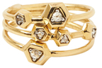 Maiyet 18K Yellow gold & 0.10 Total Ct. Diamond Constellation Rings, Set of 3