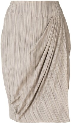 Giorgio Armani Pre-Owned Pleat Detail Skirt