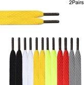 DYZD Premium 40 Inches Thick Flat Shoelaces Canvas Shoe Laces Multi-colour (, Fluorescent green)