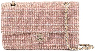 Chanel Pre Owned 2003-2004 tweed Double Flap Chain shoulder bag
