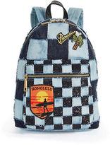 Marc Jacobs Checkered Denim Biker Backpack