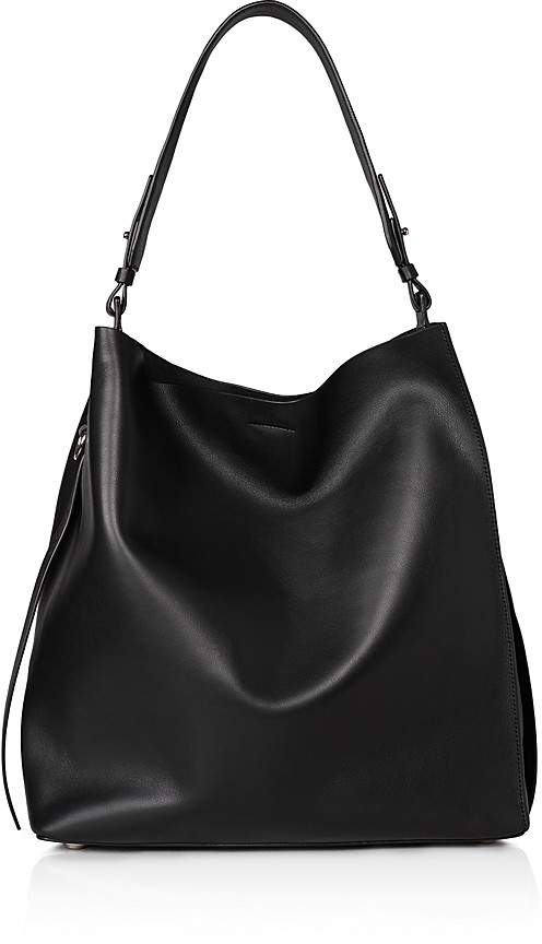 AllSaints Kepi North/South Leather Hobo