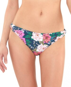 Jessica Simpson Gardenia Paradise Twisted Tab Hipster Bikini Bottom Women's Swimsuit