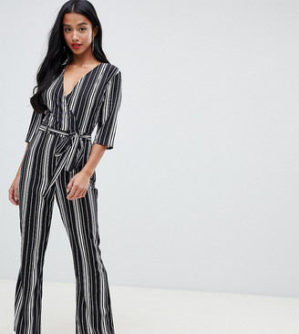 Parisian Petite stripe jumpsuit