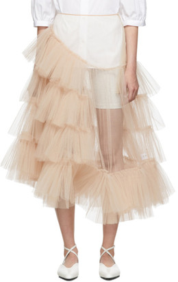 Simone Rocha Beige Net Tutu Skirt