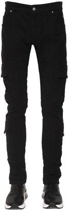 Balmain 15cm Slim Cotton Gabardine Cargo Pants