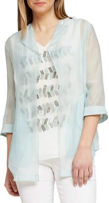 Nic+Zoe Spring Forward Sheer Open-Front Jacket