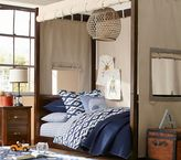 Pottery Barn Kids Sawyer Twin Canopy Bed & Mattress Set