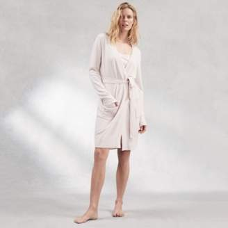 The White Company Cashmere Short Robe, Petal Pink, Extra Small