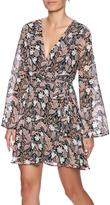 Lush Print Wrap Dress