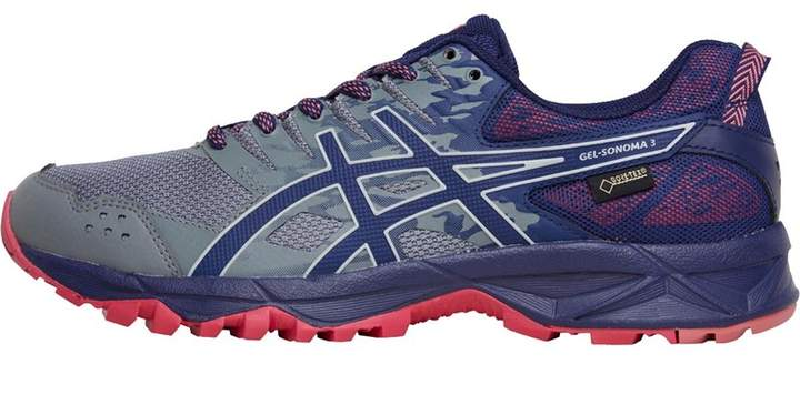 81f3e1cb Womens GEL-Sonoma 3 GORE-TEX Trail Running Shoes Stone Grey/Pixel Pink