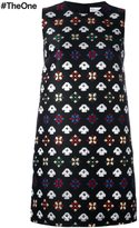 RED Valentino geometric embroidery dress - women - Acrylic/Polyester/Acetate - 48