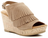 Minnetonka Ayla Fringe Platform Wedge Sandal