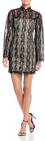 Keepsake Uptown Mockneck Lace Mini Dress