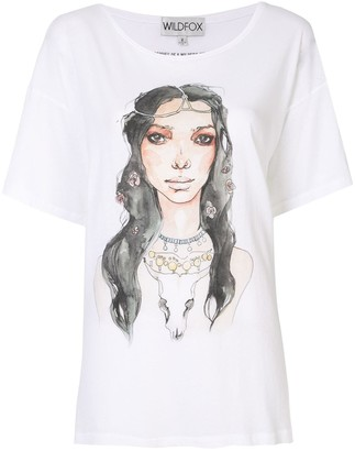 Wildfox Couture illustrated graphic print T-shirt