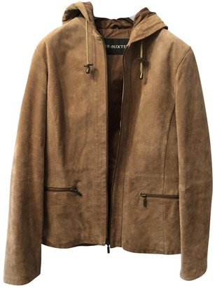 Non Signé / Unsigned Non Signe / Unsigned Beige Suede Jacket for Women