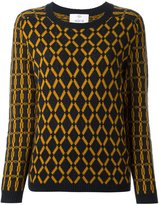 Allude diamond intarsia jumper