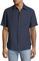 Rag & Bone Short-Sleeve Linen Beach Sport Shirt