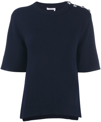 Chloé Button Shoulder Knitted Top