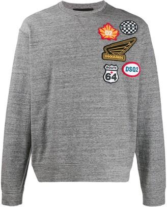 DSQUARED2 Route 64 badge sweatshirt