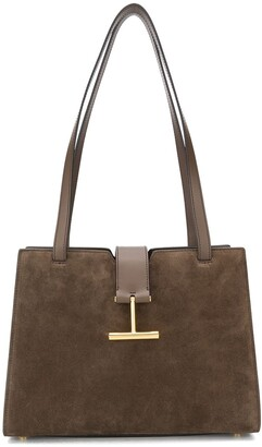 Tom Ford Faux-Suede Applique Tote
