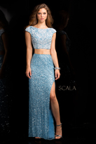 Scala 25412 Two Piece Embellished Prom Dress
