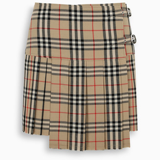 Burberry Pleated mini skirt with Vintage Check print