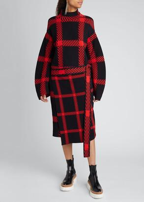 Stella McCartney Clean Lumberjack Belted Sweater Dress