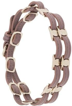 Salvatore Ferragamo Leather Link-Weave Bracelet
