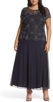 Pisarro Nights Plus Size Women's Embellished Mock Two-Piece Maxi Dress